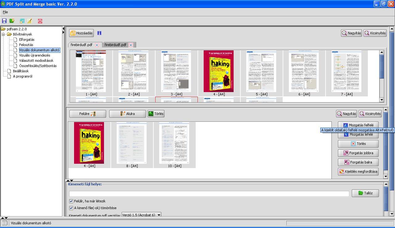 pdf sam split and merge